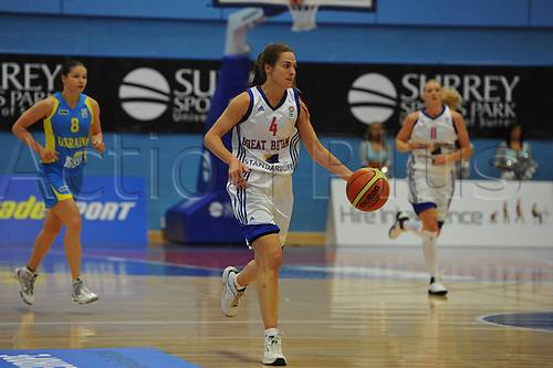 20.08.2010 Natalie Robyn Stafford (GBR)   in action during the Eurobasket Women 2011 Qualifiers   Division A Great Britain take the Ukraine at Surrey University