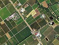 aerial photo map of Mondavi Winery, Opus, Highway 29, Oakville, Napa County, CA,.