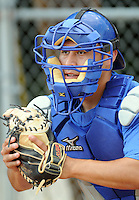 June 19, 2008: Miguel Moctezuma of the Burlington Royals, rookie Appalachian League affiliate of the Kansas City Royals, prior to a game against the Dabville Braves at Dan Daniel Memorial Park in Danville, Va. Photo by:  Tom Priddy/Four Seam Images