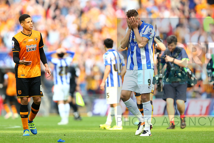 Wednesday?s Atdhe Nuhiu dejected during the Skybet Championship Play Off Final match at Wembley Stadium. Photo credit should read: Philip Oldham/Sportimage