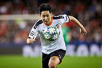 5th November 2019; Mestalla, Valencia, Spain; UEFA Champions League Football,Valencia versus Lille; Kangin Lee runs towards the ball - Editorial Use
