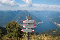 Veduta del Lago di Como dal Monte Boletto --- View of Lake Como from Boletto Mountain