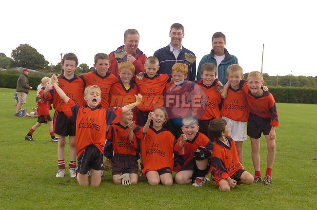 2nd September, 2006. Under 8s and Under 9s Football Blitz at Monasterboice, Drogheda..The Mattock Rangers under 9 team..Photo: BARRY CRONIN/Newsfile..(Photo credit should read BARRY CRONIN/NEWSFILE).