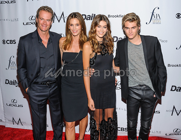 08 September 2016 - New York, New York- Rande Gerber, Cindy Crawford, Kaia Gerber, Presley Gerber. Daily Front Row's Fourth Annual Fashion Media Awards. Photo Credit: Mario Santoro/AdMedia