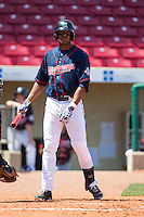 Cedar Rapids Kernels outfielder Adam Walker #38 looks on during a game against the Lansing Lugnuts at Veterans Memorial Stadium on April 30, 2013 in Cedar Rapids, Iowa. (Brace Hemmelgarn/Four Seam Images)