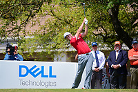 Jon Rahm (ESP) watches his tee shot on 1 during round 7 of the World Golf Championships, Dell Technologies Match Play, Austin Country Club, Austin, Texas, USA. 3/26/2017.<br /> Picture: Golffile | Ken Murray<br /> <br /> <br /> All photo usage must carry mandatory copyright credit (&copy; Golffile | Ken Murray)