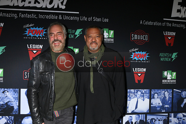 """Titus Welliver, Laurence Fishburne<br /> at """"Excelsior! A Celebration of the Amazing, Fantastic, Incredible & Uncanny Life of Stan Lee,"""" TCL Chinese Theater, Hollywood, CA 01-30-19<br /> David Edwards/DailyCeleb.com 818-249-4998"""