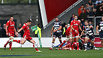 Ian Neatly of Munster scores the winning points with a last second drop goal - European Rugby Champions Cup - Sale Sharks vs Munster -  AJ Bell Stadium - Salford- England - 18th October 2014  - Picture Simon Bellis/Sportimage
