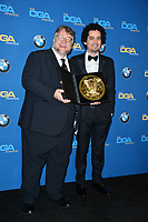 Guillermo Del Toro &amp; Damien Chazelle at the 70th Annual Directors Guild Awards at the Beverly Hilton Hotel, Beverly Hills, USA 03 Feb. 2018<br /> Picture: Paul Smith/Featureflash/SilverHub 0208 004 5359 sales@silverhubmedia.com
