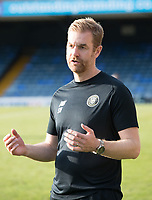 Simon Weaver, Manager, Harrogate Town,  post match giving his thoughts to the media during Southend United vs Harrogate Town, Sky Bet EFL League 2 Football at Roots Hall on 12th September 2020