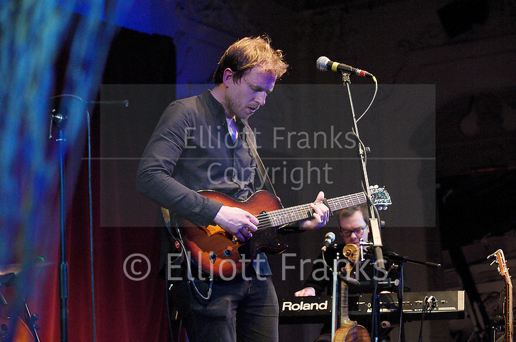 Alex Cornish live performance at Bush Hall, London, Great Britain <br /> 30th November 2012 <br /> <br /> Christmas show 2012<br /> <br /> <br /> Alex Cornish - guitar/violin, piano, vocals<br /> Bevis Hungate - keyboards<br /> Paul Gilbody - support and Bass<br /> Craig Connet - percussion &amp; cajon <br /> <br /> Photograph by Elliott Franks