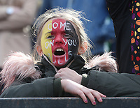 A young Bradford Bulls fan celebrates her teams victory at the final whistle <br /> <br /> Photographer Stephen White/CameraSport<br /> <br /> Rugby League - Coral Challenge Cup Sixth Round - Bradford Bulls v Leeds Rhinos - Saturday 11th May 2019 - Provident Stadium - Bradford<br /> <br /> World Copyright &copy; 2019 CameraSport. All rights reserved. 43 Linden Ave. Countesthorpe. Leicester. England. LE8 5PG - Tel: +44 (0 116 277 4147 - admin@camerasport.com - www.camerasport.com