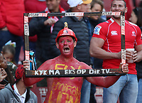 Fans during the Super Rugby quarter-final match between the Emirates Lions and the Jaguares at the Emirates Airlines Park Stadium,Johannesburg, South Africa on Saturday, 21 July 2018. Photo: Steve Haag / stevehaagsports.com
