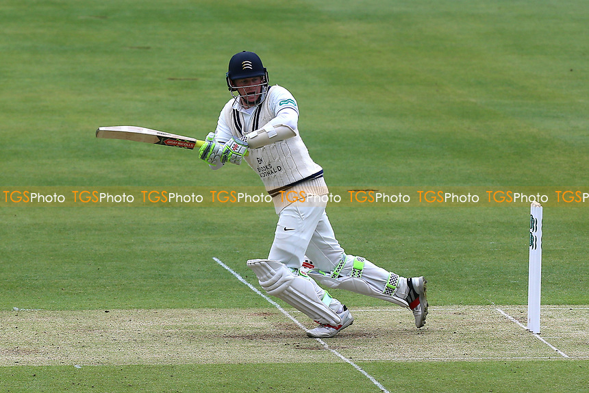 Sam Robson in batting action for Middlesex during Middlesex CCC vs Essex CCC, Specsavers County Championship Division 1 Cricket at Lord's Cricket Ground on 21st April 2017