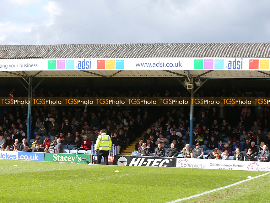 MK Dons fans during Southend United vs MK Dons, Sky Bet EFL League 1 Football at Roots Hall on 17th April 2017