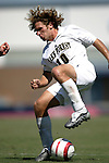 11 September 2005: Justin Moose. The Wake Forest Demon Deacons defeated the Rutgers Scarlet Knights 5-1 in an NCAA Divison I men's soccer game at Fetzer Field in Chapel Hill, NC.