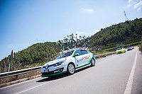 Castellon, SPAIN - SEPTEMBER 7: Orica car during LA Vuelta 2016 on September 7, 2016 in Castellon, Spain