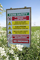 Farm site safety sign