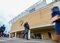 Leeds United fans arrive at Elland Road before the match<br /> <br /> Photographer Alex Dodd/CameraSport<br /> <br /> The EFL Sky Bet Championship - Leeds United v Bristol City - Saturday 24th November 2018 - Elland Road - Leeds<br /> <br /> World Copyright &copy; 2018 CameraSport. All rights reserved. 43 Linden Ave. Countesthorpe. Leicester. England. LE8 5PG - Tel: +44 (0) 116 277 4147 - admin@camerasport.com - www.camerasport.com