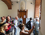 VMI Vincentian Heritage Tour: Members of the Vincentian Mission cohort visit the remains and new structures of the University of Toulouse on Sunday, June 26, 2016, in southern France. (DePaul University/Jamie Moncrief)