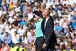 Real Madrid's coach Zinedine Zidane -durign the match of La Liga between Real Madrid and SD Eibar at Santiago Bernabeu Stadium in Madrid. October 02, 2016. (ALTERPHOTOS/Rodrigo Jimenez)