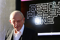"""LOS ANGELES - MAR 26:  Christopher Lloyd at the """"Ready Player One"""" Premiere at TCL Chinese Theater IMAX on March 26, 2018 in Los Angeles, CA"""