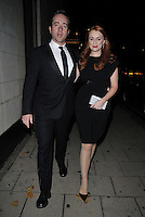 LONDON, ENGLAND - OCTOBER 04: Matthew Macfadyen & Keeley Hawes attend the Shooting Star CHASE Ball, The Dorchester Hotel, Park Lane., on Saturday October 04, 2014 in London, England, UK. <br /> CAP/CAN<br /> ©Can Nguyen/Capital Pictures