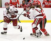 Liza Ryabkina (Harvard - 3), Jillian Dempsey (Harvard - 14), ? - The Harvard University Crimson defeated the St. Lawrence University Saints 8-3 (EN) to win their ECAC Quarterfinals on Saturday, February 26, 2011, at Bright Hockey Center in Cambridge, Massachusetts.