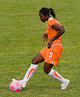 Sky Blue FC defender Anita Asante (5) makes a pass during a WPS match at Anheuser-Busch Soccer Park, in St. Louis, MO, June 7, 2009. Athletica won the match 1-0.