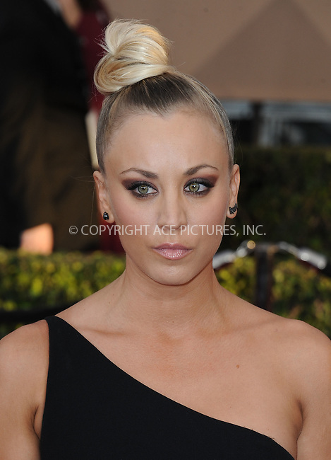 WWW.ACEPIXS.COM<br /> <br /> January 30 2016, LA<br /> <br /> Kaley Cuoco arriving at the 22nd Annual Screen Actors Guild Awards at the Shrine Auditorium on January 30, 2016 in Los Angeles, California<br /> <br /> By Line: Peter West/ACE Pictures<br /> <br /> <br /> ACE Pictures, Inc.<br /> tel: 646 769 0430<br /> Email: info@acepixs.com<br /> www.acepixs.com