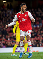 Pierre-Emerick Aubameyang of Arsenal during the UEFA Europa League match between Arsenal and Standard Liege at the Emirates Stadium, London, England on 3 October 2019. Photo by Andrew Aleks.