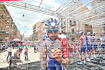 Thibout Pinot (FRA) Groupama-FDJ signs on before the start of Stage 6 of the 2018 Giro d'Italia, running 169km from Caltanissetta to the Etna (Osservatorio Astrofisico) marks the first mountain finish of the race finishing on the Osservatorio Astrofisico climb for the first time in race's history, Sicily, Italy. 10th May 2018.<br /> Picture: LaPresse/Massimo Paolone | Cyclefile<br /> <br /> <br /> All photos usage must carry mandatory copyright credit (&copy; Cyclefile | LaPresse/Massimo Paolone)