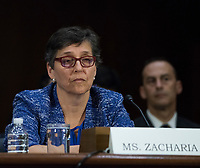 WASHINGTON, DC - NOVEMBER 8:  Karen Zacharia, Deputy General Counsel and Chief Privacy Officer, Verizon Communications, Inc. (parent company of Yahoo! since 2017) testifies at a Congressional hearing on Consumer Data breach.The hearing features testimony from a current and a former official who worked on the response to Yahoo!ís 2013 data breach, which the company announced only last month affected all 3 billion user accounts, as well as the current and former CEO of Equifax, which suffered a 2017 breach reported to affect approximately 145 million individuals, including sensitive personal and financial information.  Credit: Patsy Lynch/MediaPunch