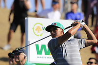 Rickie Fowler (USA) tees off the 6th tee during Saturday's Round 3 of the Waste Management Phoenix Open 2018 held on the TPC Scottsdale Stadium Course, Scottsdale, Arizona, USA. 3rd February 2018.<br /> Picture: Eoin Clarke | Golffile<br /> <br /> <br /> All photos usage must carry mandatory copyright credit (&copy; Golffile | Eoin Clarke)