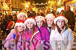 Pictured at the Santa parade in Killarney on Friday from left Eva Quinn, Julie Delaney, Almha Russell- Kissane, Tara MacMonagle, Emer O'Dowd and Tara Russell- Kissane.