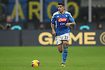 Giovanni Di Lorenzo of Napoli during the Coppa Italia match at Giuseppe Meazza, Milan. Picture date: 12th February 2020. Picture credit should read: Jonathan Moscrop/Sportimage
