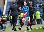05.05.2019 Rangers v Hibs: Steven Gerrard and stand in keeper Ross McCrorie
