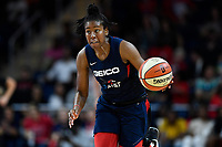 Washington, DC - July 30, 2019: Washington Mystics guard Ariel Atkins (7) steals the ball and scores a basket during game between the Phoenix Mercury and the Washington Mystics at the Entertainment & Sports Arena in Washington, DC. The Mystics defeated the Mercury 99-93. (Photo by Phil Peters/Media Images International)
