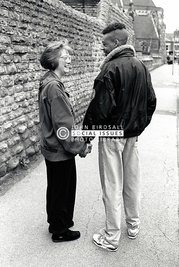 Young couple, Nottingham, UK 1990
