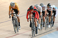 Regan Gough  (L) of East Coast North Island and Hugo Jones of Canterbury compete in the Elite Men Omnium 2 Tempo race 10km at the Age Group Track National Championships, Avantidrome, Home of Cycling, Cambridge, New Zealand, Saturday, March 18, 2017. Mandatory Credit: © Dianne Manson/CyclingNZ  **NO ARCHIVING**