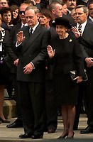 Montreal, 2000-10-03 <br /> Canadian Prime Minister ;  the Honorable Jean Chr»tien and his wife Aline were attending the funeral of former Canadian Prime Minister, the Honorable Pierre Eliott Trudeau  held at the Notre-Dame Basilica in Montreal (Qu»bec, Canada) on October 10th, 2000.