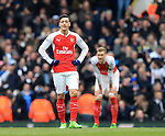 Arsenal's Mesut Ozil looks on dejected after Tottenham's opening goal<br /> <br /> - English Premier League - Tottenham Hotspur vs Arsenal  - White Hart Lane - London - England - 5th March 2016 - Pic David Klein/Sportimage