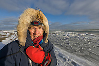 Women in parka on Barter Island, Beaufort Sea, Arctic Alaska.