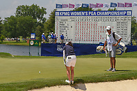 Mo Martin (USA) chips on to 18 during round 4 of the 2018 KPMG Women's PGA Championship, Kemper Lakes Golf Club, at Kildeer, Illinois, USA. 7/1/2018.<br /> Picture: Golffile | Ken Murray<br /> <br /> All photo usage must carry mandatory copyright credit (&copy; Golffile | Ken Murray)