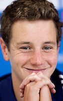 10 SEP 2009 - SOUTHPORT, AUS - Alistair Brownlee - Press Conference - ITU World Triathlon Championships .(PHOTO (C) NIGEL FARROW)