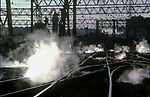 Trains US 1980s Hoboken train station New Jersey United States of America USA.  1982