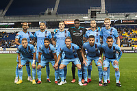 HARRISON, NJ - MARCH 11: NYCFC Starting Eleven during a game between Tigres UANL and NYCFC at Red Bull Arena on March 11, 2020 in Harrison, New Jersey.