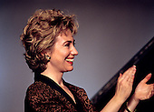"First lady Hillary Rodham Clinton appears during the taping of the PBS series ""In Performance at the White House"" on the South Lawn of the White House in Washington, D.C. on June 18, 1993. The show is to honor the 40th anniversary of the Newport Jazz Festival.  <br /> Credit: Ron Sachs / CNP"