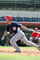 Washington Nationals second baseman Jeff Kobernus #18 during an Instructional League game against the Houston Astros at Osceola County Stadium on September 26, 2011 in Kissimmee, Florida.  (Mike Janes/Four Seam Images)