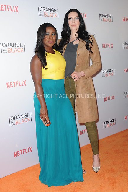 WWW.ACEPIXS.COM<br /> June 11, 2015 New York City<br /> <br /> Uzo Aduba and Laura Prepon attending the 'Orangecon' Fan Event at Skylight Clarkson SQ on June 11, 2015 in New York City.<br /> <br /> Credit : Kristin Callahan/ACE Pictures<br /> Tel: (646) 769 0430<br /> e-mail: info@acepixs.com<br /> web: http://www.acepixs.com